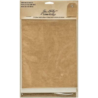 Idea-Ology Substrate Surfaces - Kraft White and Brown - 9 Sheets