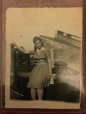 Antique African American Attractive Woman Old Photo Black Americana