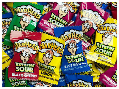 TNT Warheads Super Sours Candy - 10 x Lollies Green Apple, Strawberry, Orange