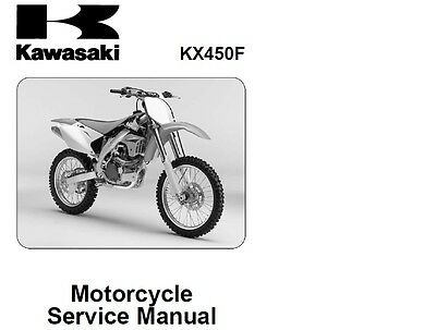 KAWASAKI KX450F Workshop Service Rrepair Manual Factory 2005 - 2008