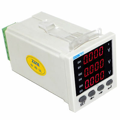 Three-phase AC Voltage Meter Intelligent Digital Display Voltmeter 48x48mm