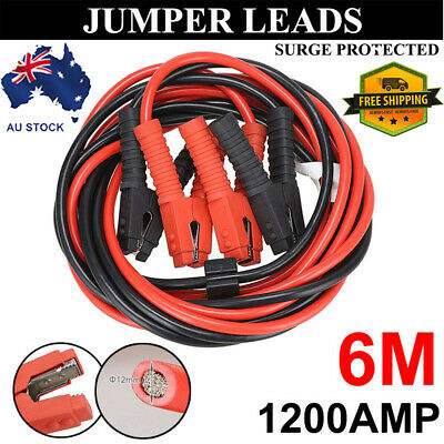 1200AMP Jumper Lead Protected Jump 6M Car Booster Cables Heavy Duty Red Black AU