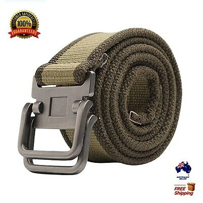 XHTang Fashion Mens Canvas Belt Army Tactical Combat Waistband Jeans For Gift