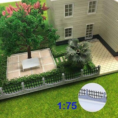 GY47075 3PCS 34.4cm Model Train Railway Building Fence Railing 1:75 OO Scale New