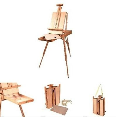 Portable Drawing Table Sketching Wooden French Easel Tripod Painting Canva Arts