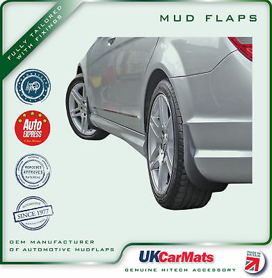 Genuine Hitech Mercedes C Class W204/S204 AMG Mudflaps 2010-14(Post-Facelift)