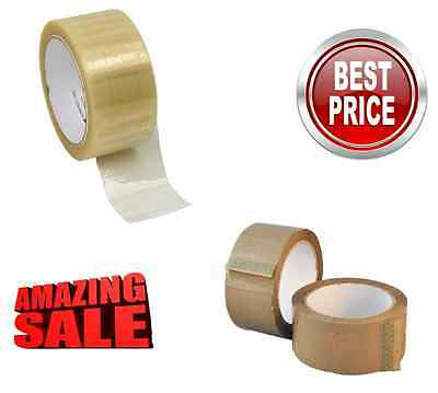 Packaging Brown Clear Strong Buff Packing Parcel Tape Box Sealing 48Mm X 50M