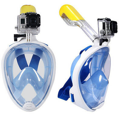 Natación Full Face Mask Superficie Buceo Snorkel para GoPro S/M L/XL