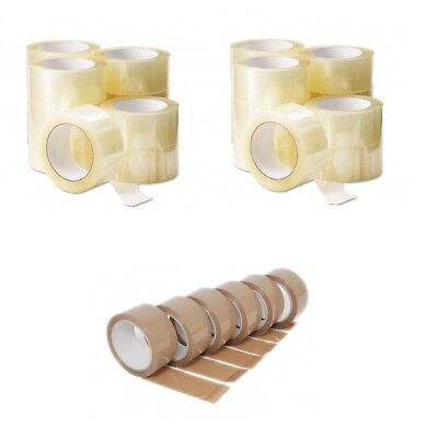 Large Rolls Of Super Strong Brown Clear 48Mm X 50M Parcel Packaging Packing Tape