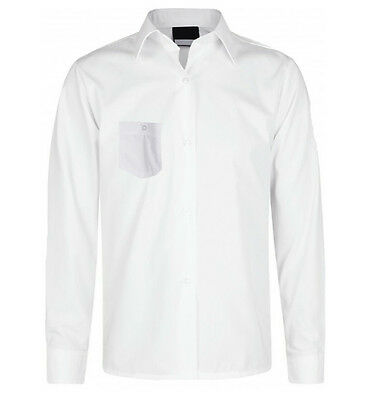 CLEARANCE * Girls School Blouses White Long sleeves With Pocket * CLEARANCE