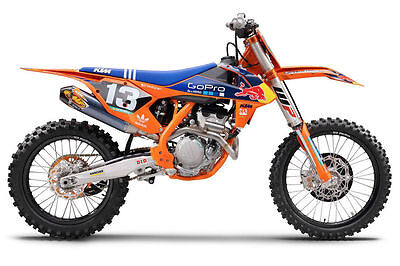 Ktm Factory Go Pro Red Bull Graphics Decals Full Kit Sx85 Sx 85 Ktm All Years