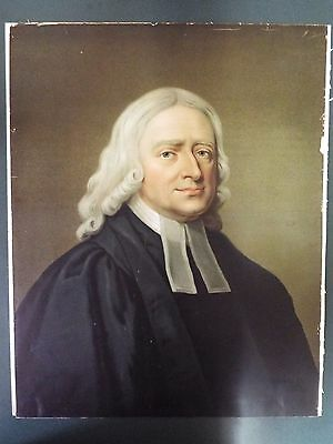 Large Antique Portrait by George Romney of John Wesley