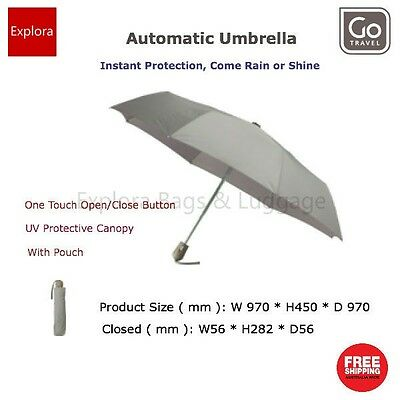 Go Travel Automatic Umbrella, One Touch Open/Close Button, UV Protection