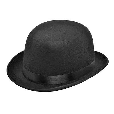 ADULT 1920s & 193s0 BOWLER HAT #BLACK FANCY DRESS GANGSTER OUTFIT ACCESSORY