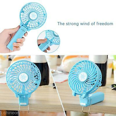 Mini Portable Foldable Handheld Cooling Fan 18650 Battery Operated Rechargeable