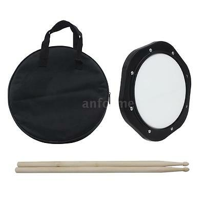 10-Inch Drum Practice Pad with Drumsticks Carrying Bag for Training NEW Z8I4