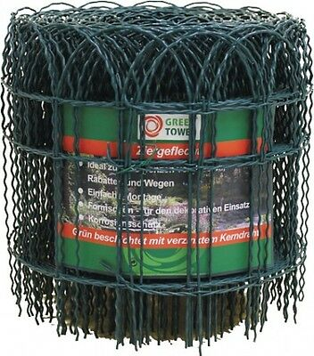 Ornamental Grating Decorative Mesh Green 900 mm 25 M Fence NEW Tower