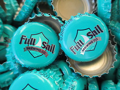 100 ( Full Sail ) ( Aquaish Blueish ) beer bottle Caps (No Dents). Free S&H