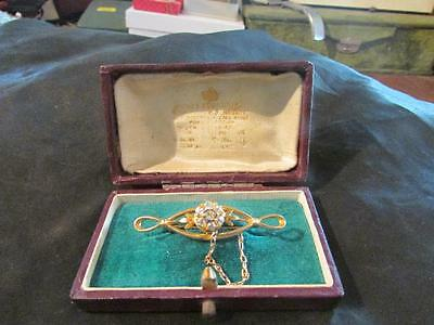 Beautiful Antique 18ct Gold & Real Old Mine Cut Diamond Brooch