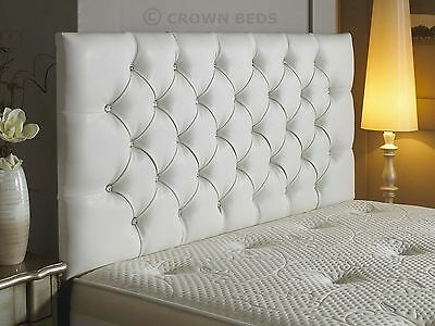 New diamante faux leather headboard in 3ft,4ft,4ft6,5ft,6ft