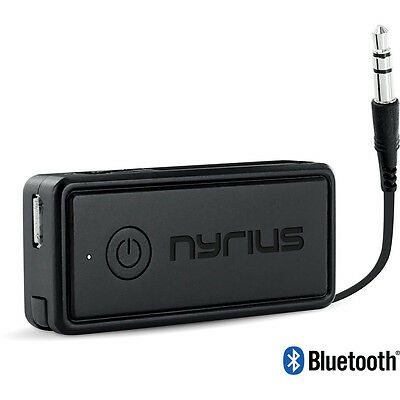 Nyrius Portable Wireless Bluetooth Streaming Music Receiver for Car & Headphones