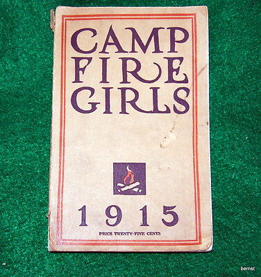 VINTAGE 1915 BOOK OF THE CAMPFIRE GIRLS  5th REVISED EDITION  -NOT SCOUT