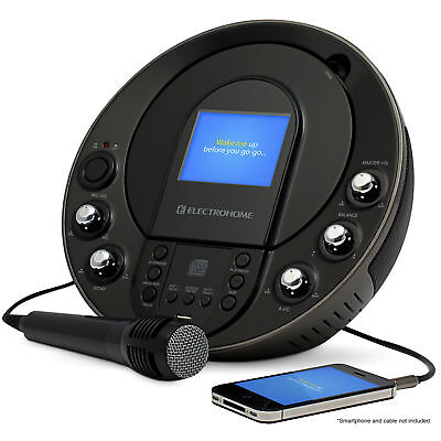 Electrohome Karaoke Machine Portable Speaker System CD+G/MP3+G Player