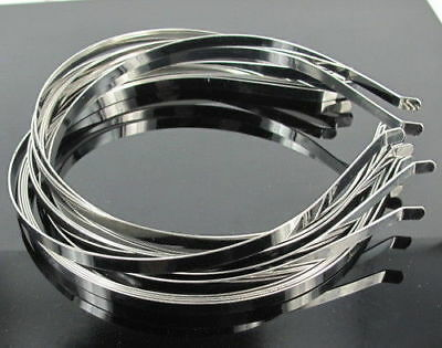 100X 3mm Plain Silver Metal Alice Band Hair Band Headband DIY Crafts Accessories