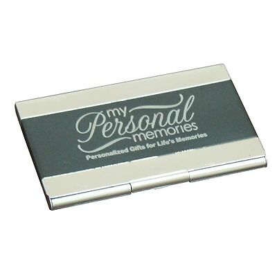 Engraved Black Business Card Case Holder - Custom Personalized Business Gift