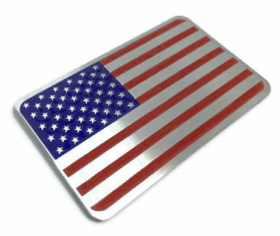 3D Metal American Flag Sticker Decal Emblem For Auto, Car, Bike, and Motorcycle