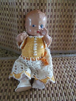 Vintage Antique Resin Bisque? Baby Doll Jointed Legs Arms No Markings