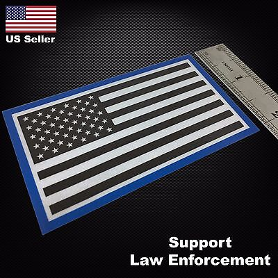 Blue Lives Matter Thin Blue Line USA American Flag REFLECTIVE Car Decal Sticker