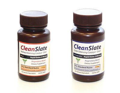 Clean Slate 2 Day Rapid LIVER & KIDNEY Cleanse and Detox- Fast Acting Supplement