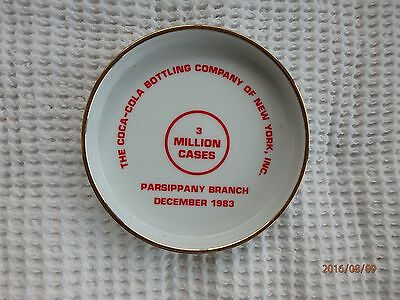 Coca Cola Ashtray Never Used Parsippany Branch 1983 6.5 Inches Diameter Flawless