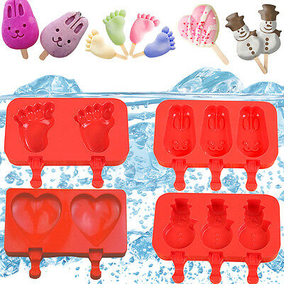 Food-Grade Silicone Ice Cream Mold Tray Popsicle Pop Maker Chocolate Jelly Mould