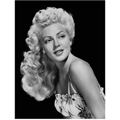 Lana Turner Looking Beautiful with Long Curly Blonde Hair 8 x 10 Inch Photo