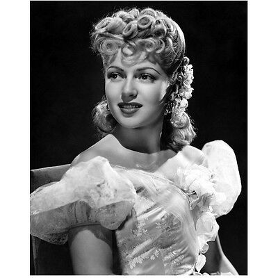 Lana Turner Looking on Big Smile Wearing Off the Shoulder 8 x 10 Inch Photo