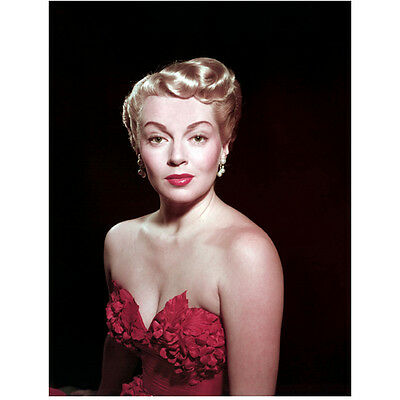 Lana Turner Looking Forward in Red with Short Blonde Hair 8 x 10 Inch Photo