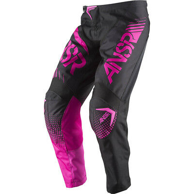Answer 2017 Youth Mx Gear NEW Syncron Black Pink Girls Motocross Pants