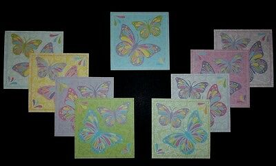 "Beautiful *BUTTERFLY* Scrapbooking/Cardmaking Papers  - 10cm X 10cm (4"" x 4"")"
