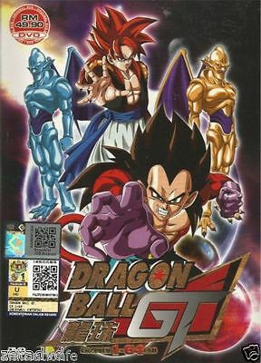DVD Dragon Ball GT Vol.1-64 End Complete Anime English Audio + Free Shipping