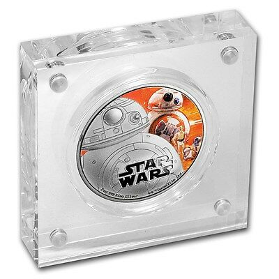 Niue -2016- Silver $2 Proof Coin- 1 OZ Star Wars  THE FORCE AWAKENS BB-8