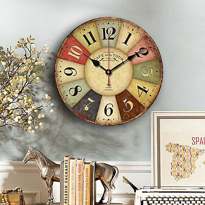 uhr wanduhr k chenuhr gr n wei kr uter wand k che italien antik vintage deko eur 15 90. Black Bedroom Furniture Sets. Home Design Ideas