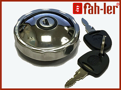 Fahler Polished STAINLESS STEEL Fuel Petrol Locking Cap For FORD CORTINA III MK3