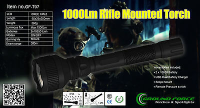Gun Mounted Torch 1000LM CREE XML2-T6 LED TACTICAL KIT TAIL SWITCH GF-T07 ***