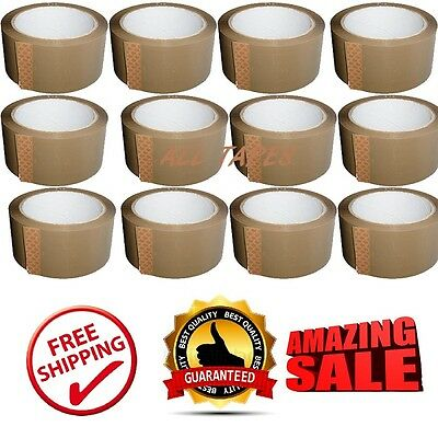 Rolls Of Brown Buff Carton Sealing Packaging Packing Parcel Tape 48Mm X 66M