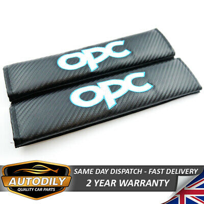 Opc Carbon Effect Seat Belt Harness Shoulder Pad Badge Opel Vxr Astra H Corsa D
