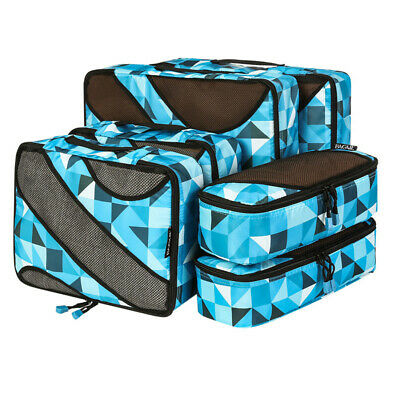 6 Sets Travel Packing Cubes Storage Bags Clothes Luggage Organizer Packing Bags