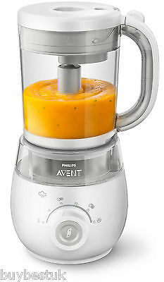New Philips AVENT SCF875/01 4-In-1 Healthy Baby Food Maker Steam Blender
