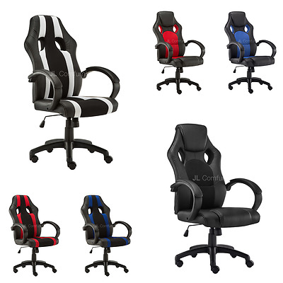 Office Desk Leather Swivel Home Chair Faux  Executive Sport Gaming Pu Computer